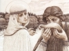 Княгиня Феврония вразумляет боярина