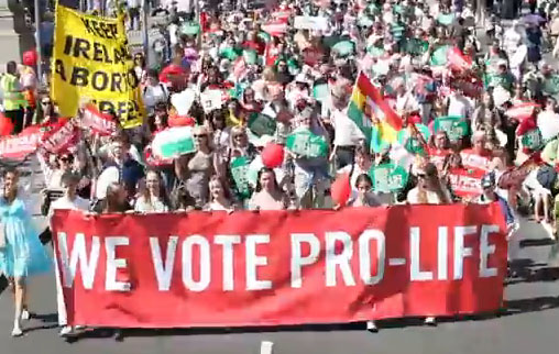 Мы голосуем за жизнь: 60 000 ирландцев протестуют против закона о легализации абортов