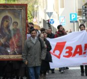 В столице Сербии Белграде прошел Крестный ход за запрет абортов