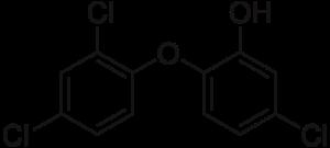Триклозан. Изображение: ru.wikipedia.org