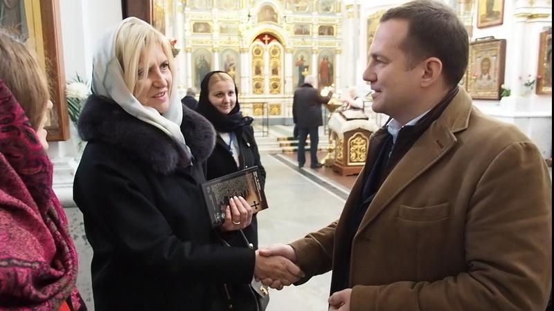 Супруге Президента Сербии белорусские журналисты вручили первый экземпляр фильма «Афон – ЗА ЖИЗНЬ»