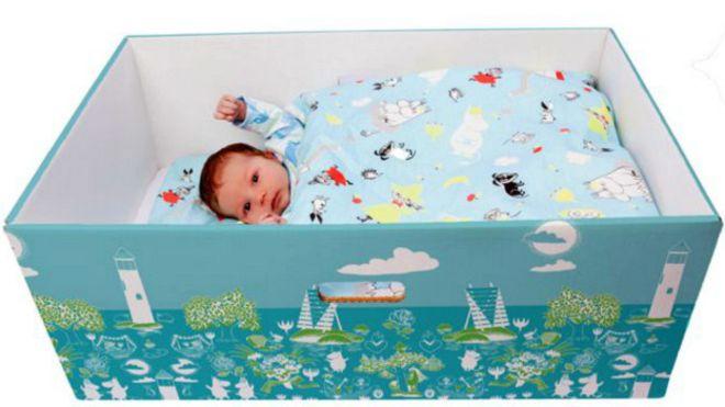 Финские коробки для младенцев завоевывают мир