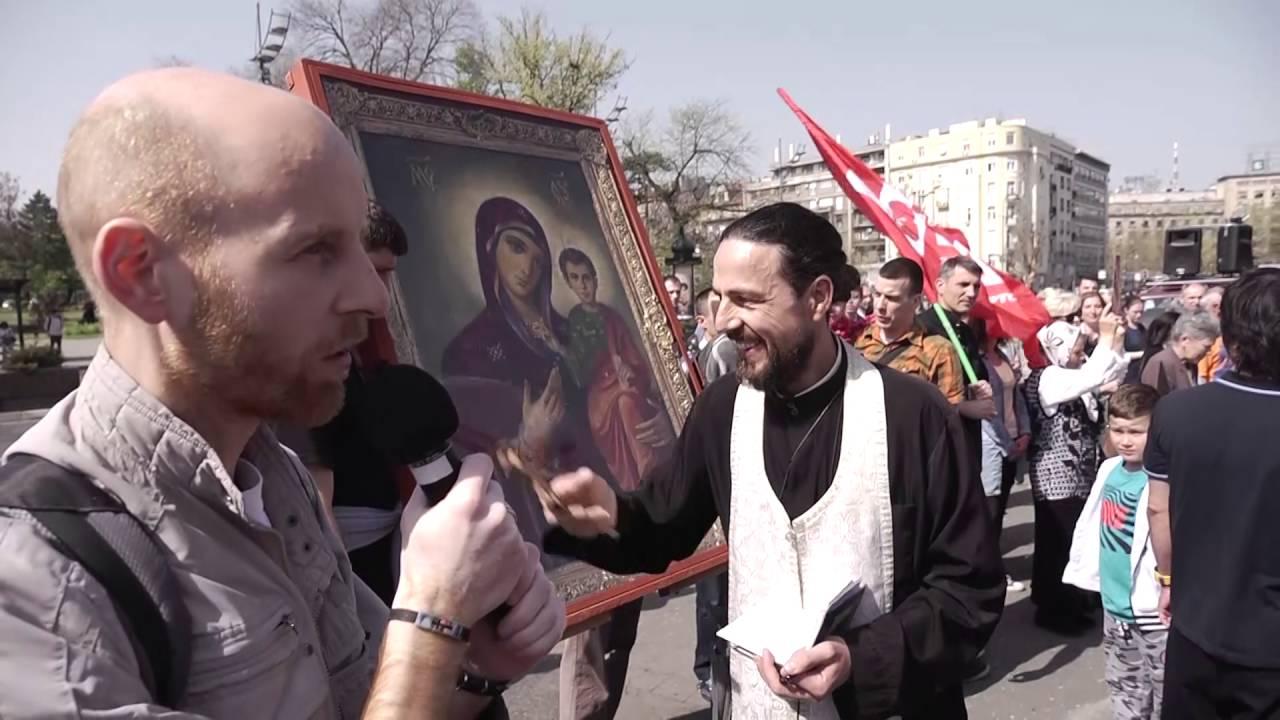 Благовещенская лития в Белграде:  от храма к храму, от сердца к сердцу с молитвой о нерождённых